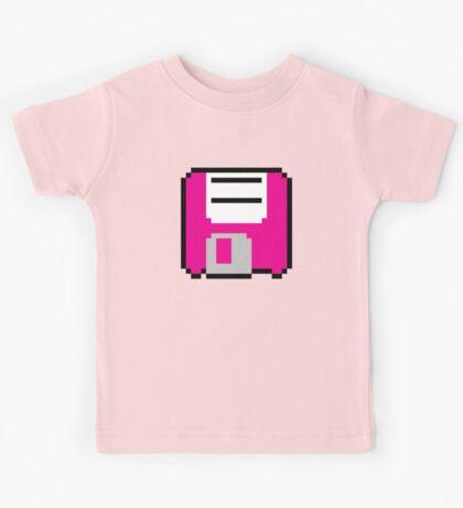 Floppy Disk - Pink Kids Tee