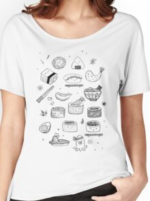 Sushimania (Black & White) Women's Relaxed Fit T-Shirt