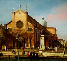 Canaletto  Venice The Campo SS by Adam Asar