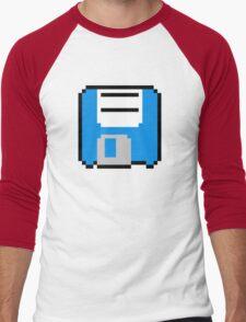 Floppy Disk - Blue Men's Baseball ¾ T-Shirt