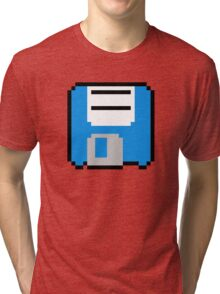 Floppy Disk - Blue Tri-blend T-Shirt