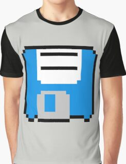 Floppy Disk - Blue Graphic T-Shirt