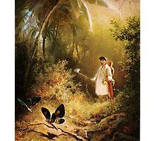 Carl Spitzweg Der Schmetterlingsfänger Photographic Print