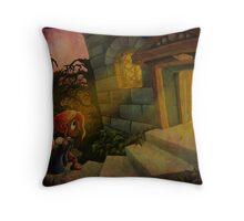 La Belle et La Bete Illustration Throw Pillow