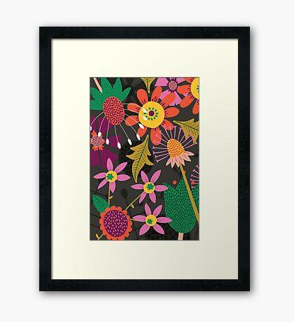 Jungle Flowers Framed Print