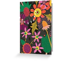 Jungle Flowers Greeting Card