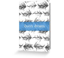 Black feathers pattern Greeting Card