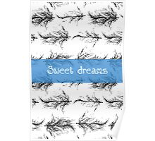 Black feathers pattern Poster
