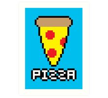 8-Bit Pizza Art Print