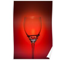 Empty Wine Glass - Red Poster