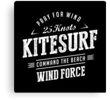Kitesurf Command The Beach White Graphic Canvas Print