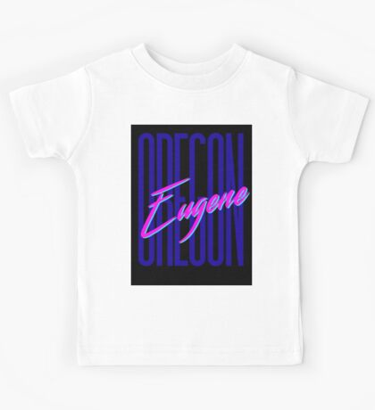 Retro 80s Eugene, Oregon Kids Tee