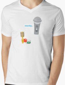 Little Round Brush Dreaming ... Mens V-Neck T-Shirt