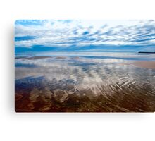 Cloud reflections at low tide Canvas Print