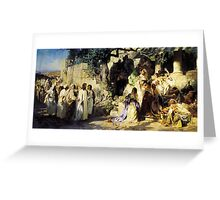 christ and sinner Greeting Card