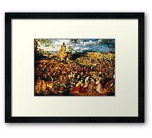 christ carrying the cross 1564 Framed Print