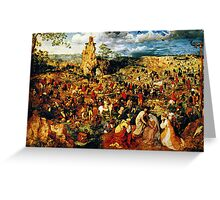 christ carrying the cross 1564 Greeting Card