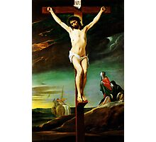christ on the cross Photographic Print