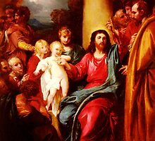 christ showing a little child as the emblem of heaven 1790 by Adam Asar