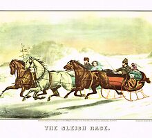 Currier & Ives The Sleigh Race by Adam Asar