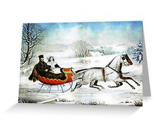 Currier and Ives Otto Knirsch The Road Winter Greeting Card