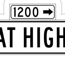 Great Highway, San Francisco Street Sign, USA Sticker
