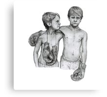 Boxing Boys Canvas Print