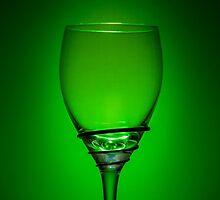 Empty Wine Glass - Green by broomhillphoto