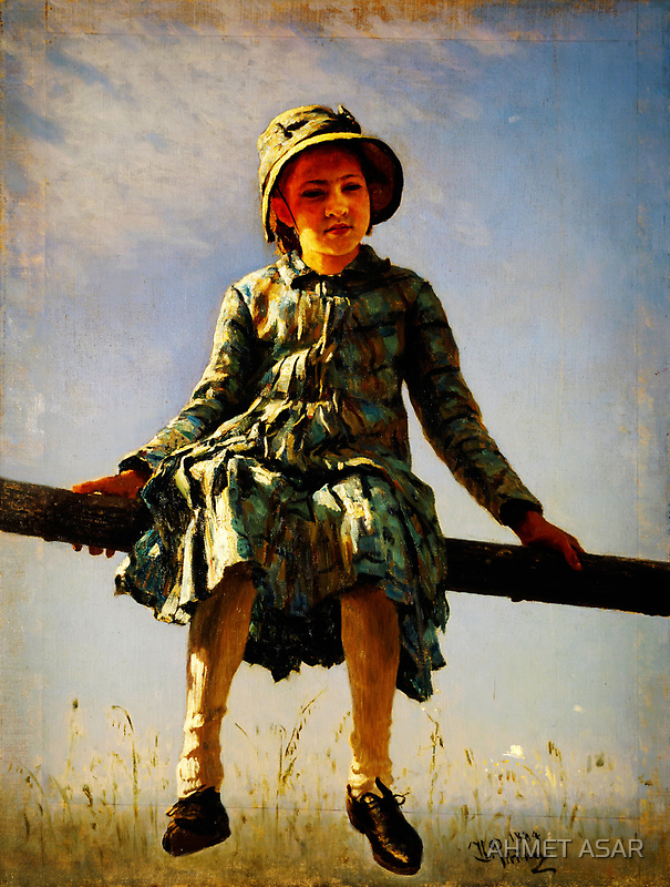 dragonfly painters daughter portrait by Adam Asar