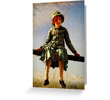 dragonfly painters daughter portrait Greeting Card
