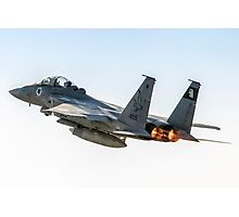 Israeli Air force (IAF) Fighter jet F-15 (BAZ) in flight Photographic Print