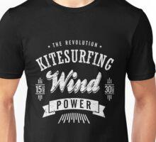 Kitesurfing Wind Power White Graphic Unisex T-Shirt