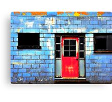 painted red.. Canvas Print