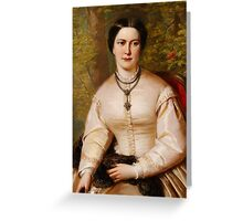 English 19th century Portrait of a lady Greeting Card