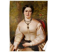 English 19th century Portrait of a lady Poster
