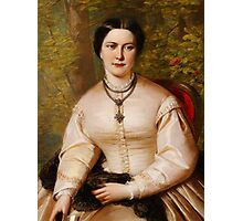 English 19th century Portrait of a lady Photographic Print