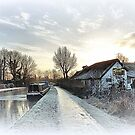 Frozen Lancaster Canal. by Lilian Marshall