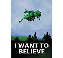 I Want To Believe (Starbug) Photographic Print