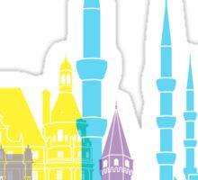 Istanbul skyline pop Sticker