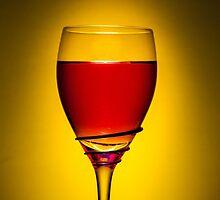 Full Wine Glass - Yellow by broomhillphoto