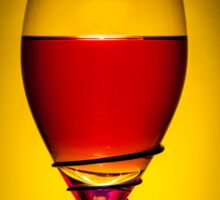 Full Wine Glass - Yellow Sticker