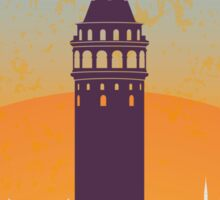 Istanbul vintage poster Sticker