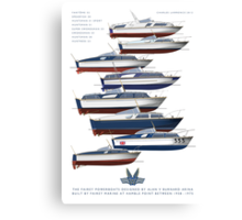 The Fairey Powerboats Canvas Print