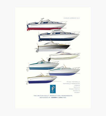 Sonny Levi's British built offshore powerboats Art Print