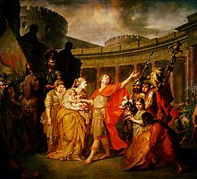 farewell of hector and andromache by Adam Asar