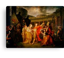 farewell of hector and andromache Canvas Print