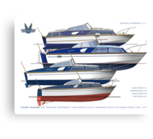 The Fairey hot moulded powerboats Canvas Print