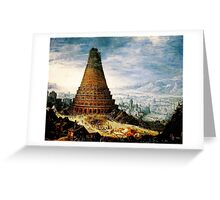 Flemish  The Tower of Babel  Baroque Greeting Card