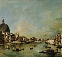 Francesco Guardi  The Grand Canal with San Simeone Piccolo and Santa Lucia by Adam Asar
