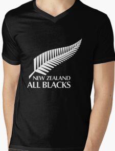 New Zealand All Black Mens V-Neck T-Shirt